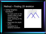 method finding 2d skeleton