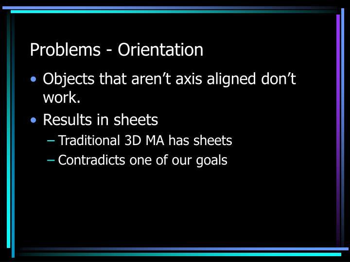 Problems - Orientation
