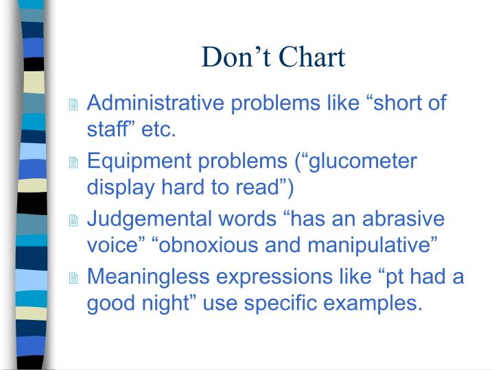 Don't Chart