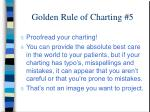 golden rule of charting 5