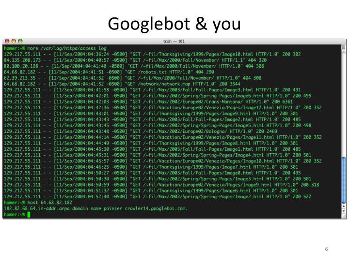 Googlebot & you