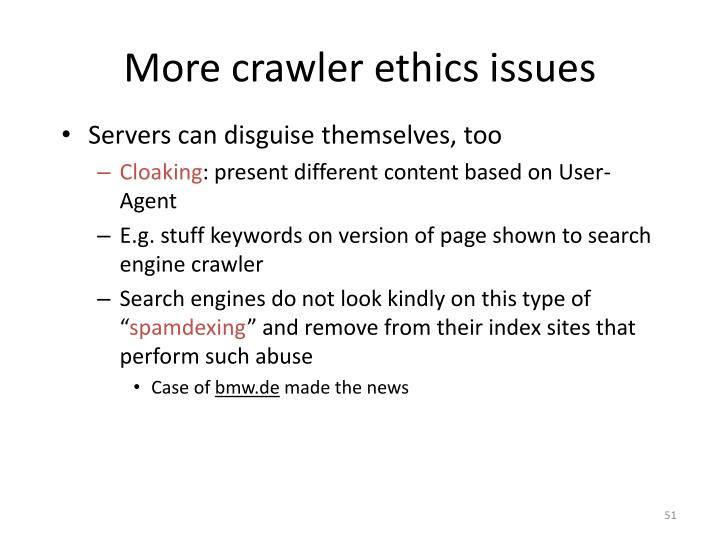 More crawler ethics issues