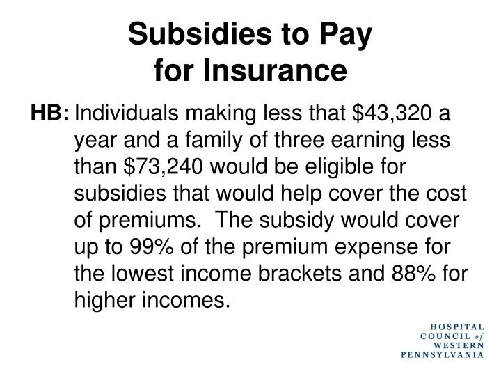 Subsidies to Pay