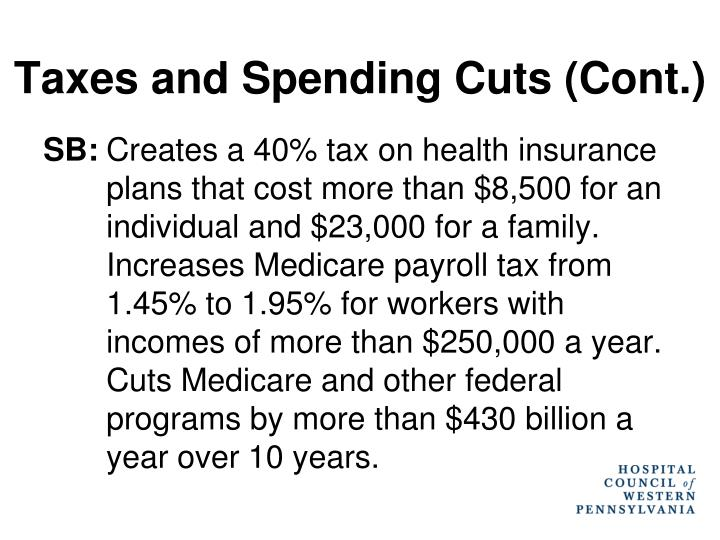 Taxes and Spending Cuts (Cont.)