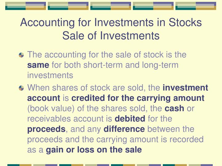 Accounting for Investments in Stocks