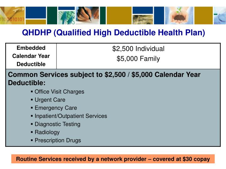 QHDHP (Qualified High Deductible Health Plan)