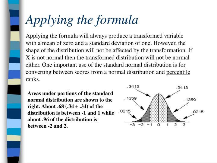 Applying the formula