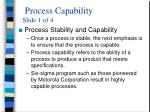 process capability slide 1 of 4