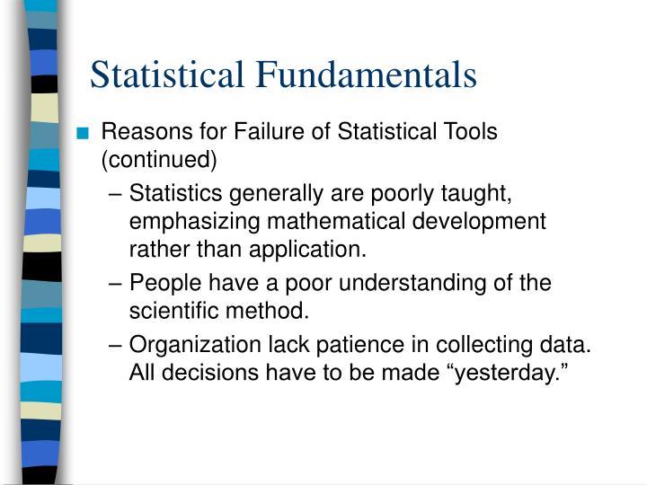 Statistical Fundamentals