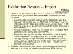 evaluation results impact2