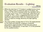 evaluation results lighting