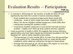 evaluation results participation1