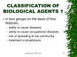 classification of biological agents 11