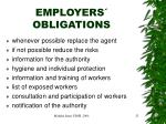 employers obligations