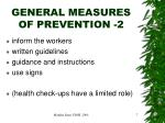 general measures of prevention 2