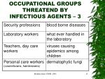 occupational groups threatend by infectious agents 3