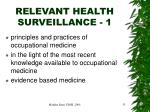 relevant health surveillance 1