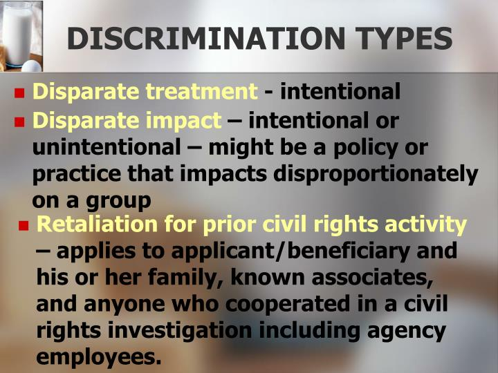 DISCRIMINATION TYPES
