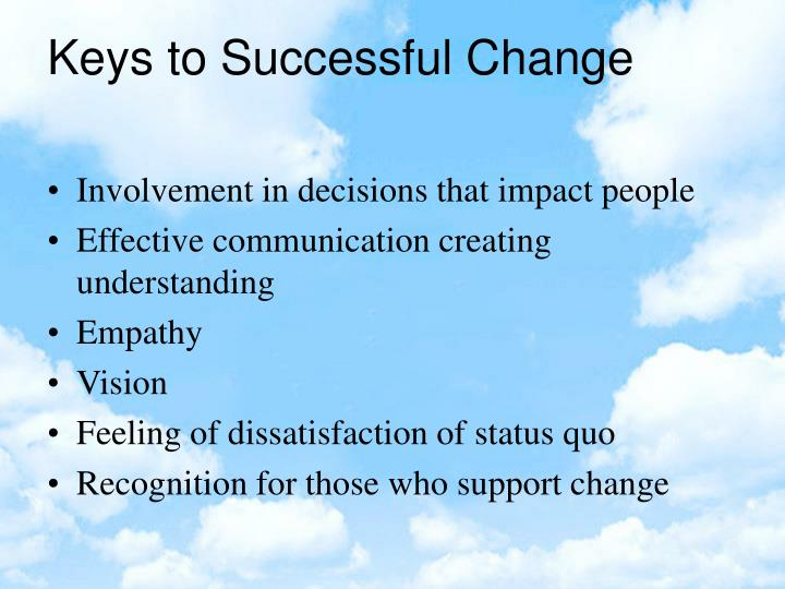 Involvement in decisions that impact people