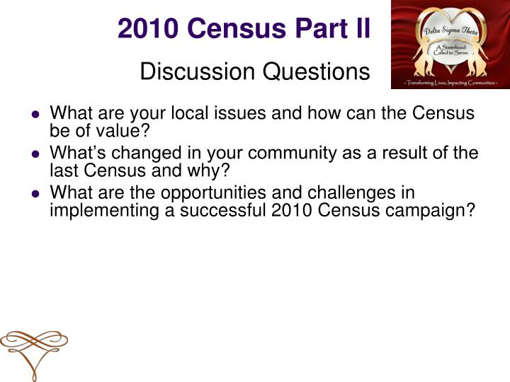 2010 Census Part ll