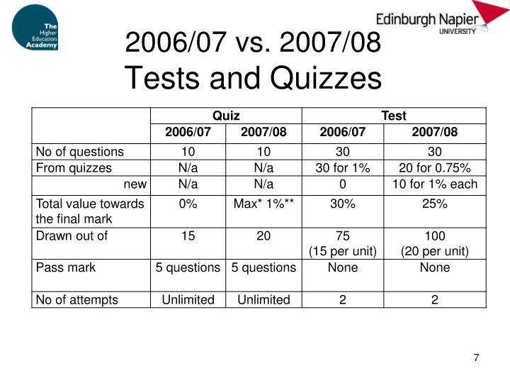 2006/07 vs. 2007/08