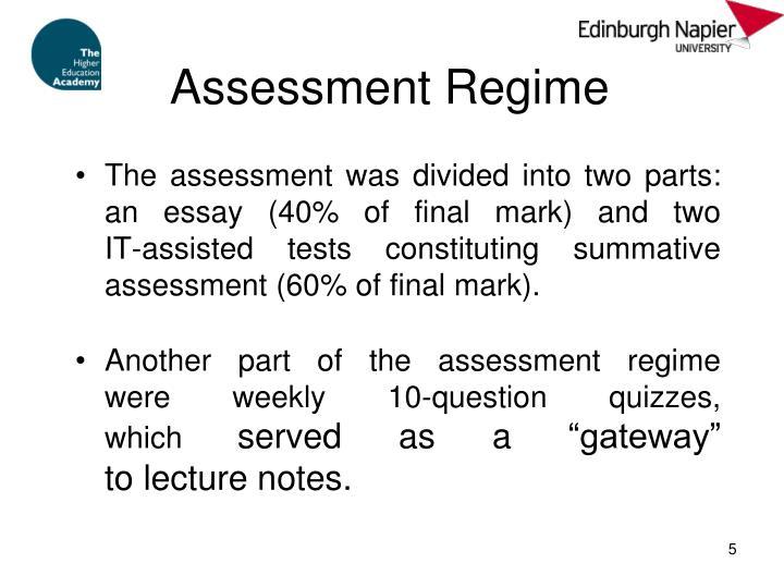 Assessment Regime