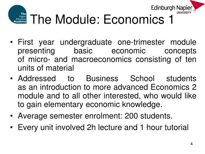 The Module: Economics 1