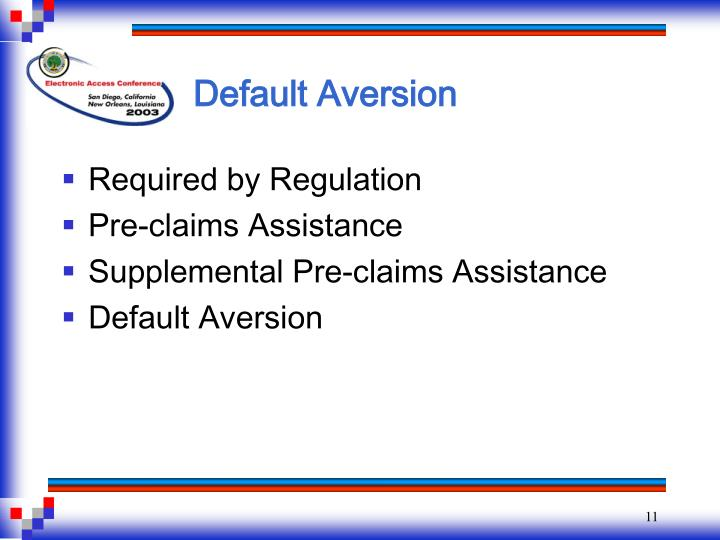 Default Aversion