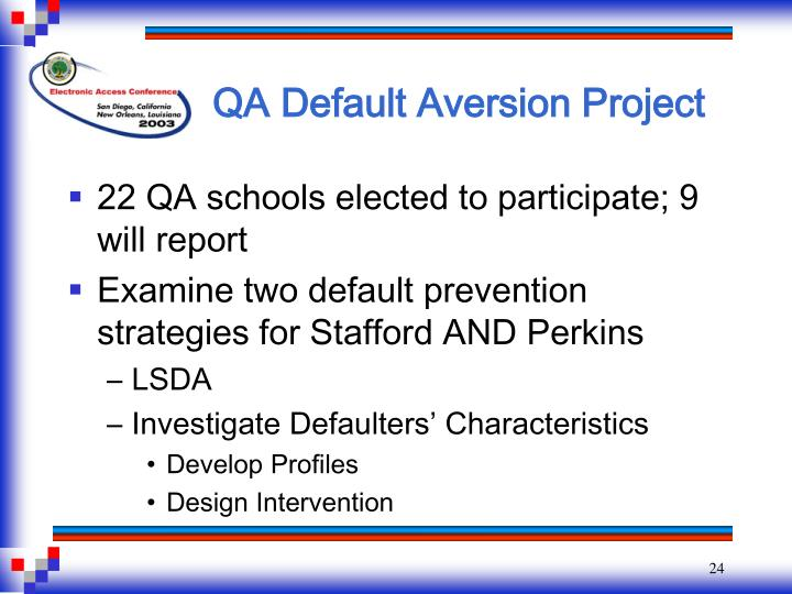 QA Default Aversion Project