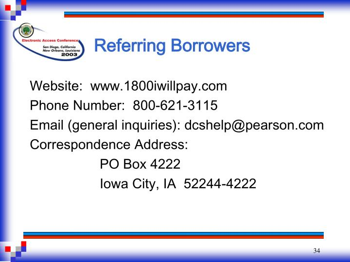 Referring Borrowers