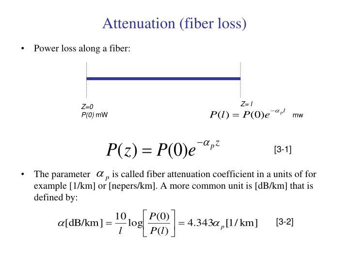 Attenuation (fiber loss)