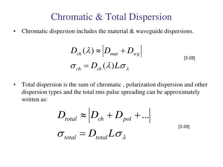 Chromatic & Total Dispersion