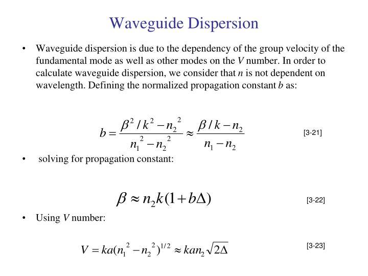 Waveguide Dispersion