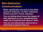 non defensive communication