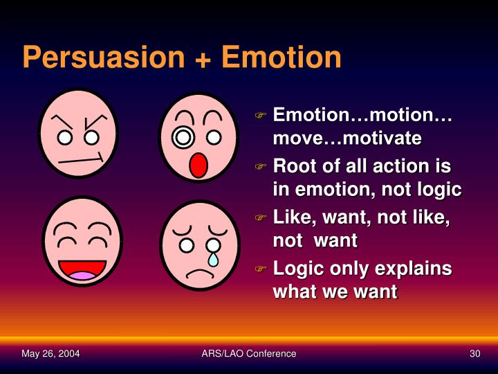 Persuasion + Emotion