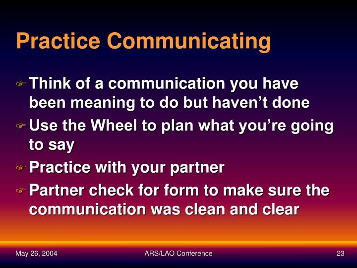 Practice Communicating