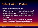 reflect with a partner