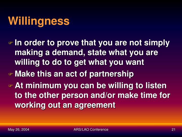 Willingness