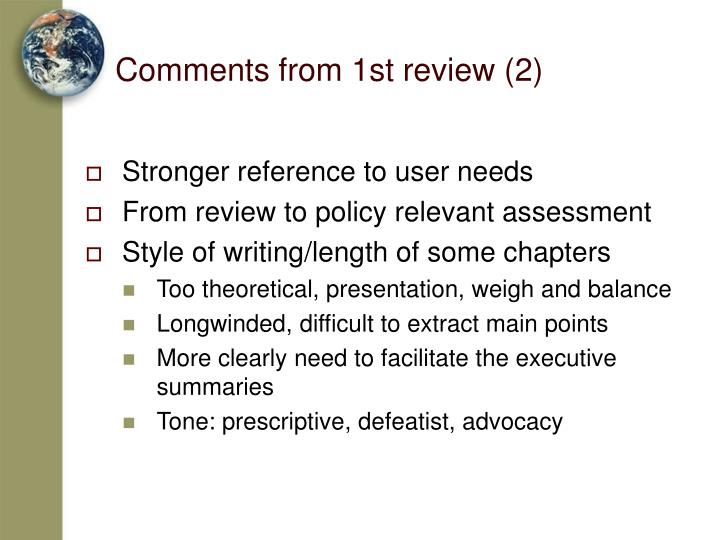 Comments from 1st review (2)