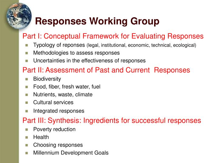 Responses Working Group