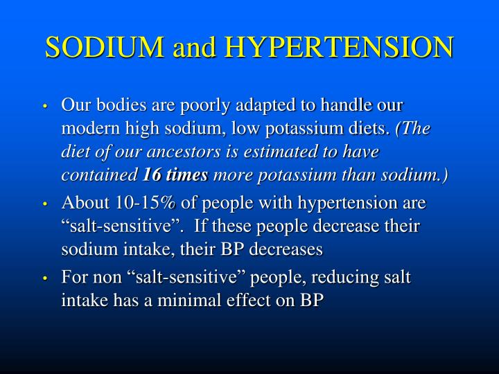 SODIUM and HYPERTENSION