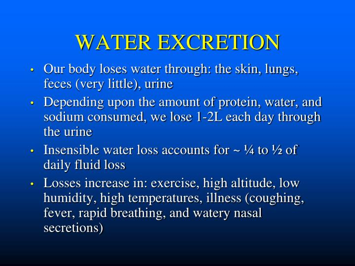 WATER EXCRETION