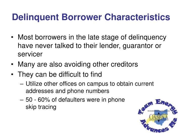 Delinquent Borrower Characteristics
