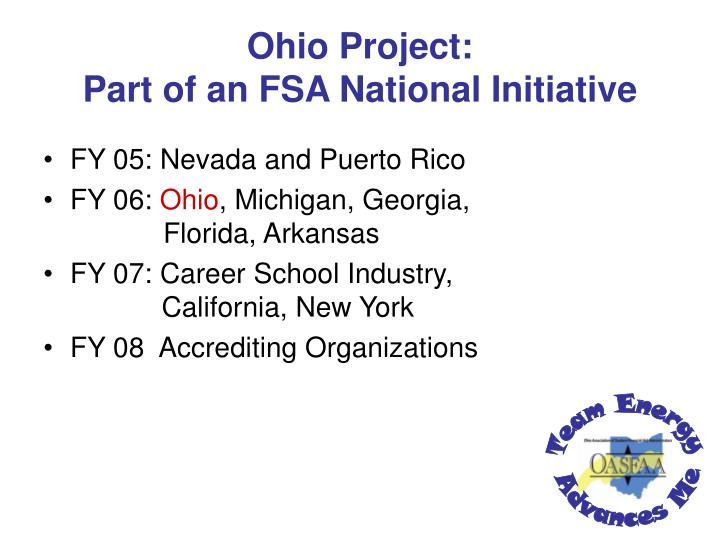 Ohio Project: