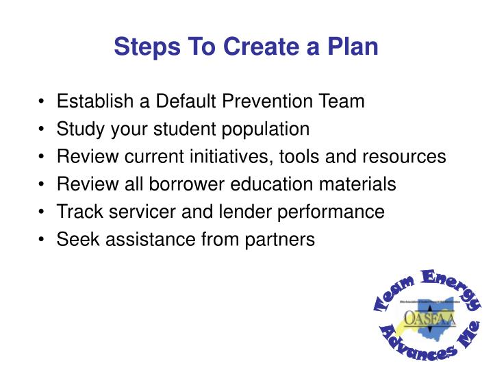 Steps To Create a Plan
