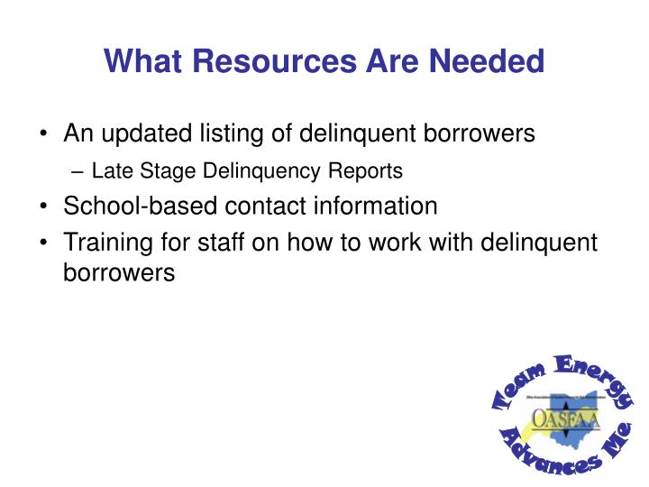 What Resources Are Needed