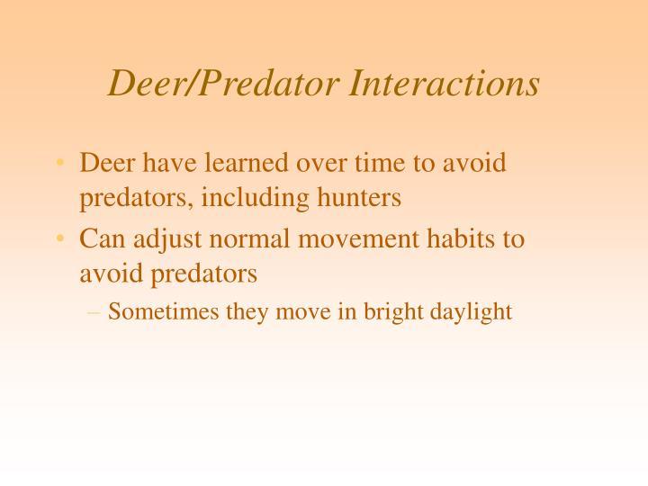 Deer/Predator Interactions