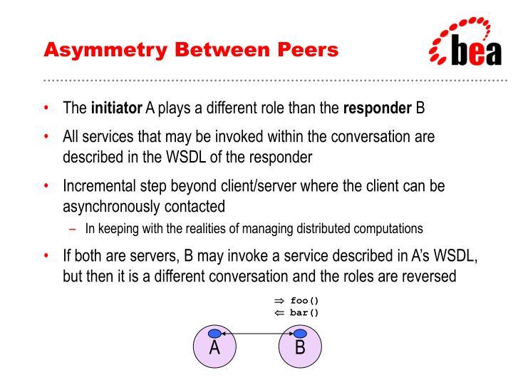 Asymmetry Between Peers