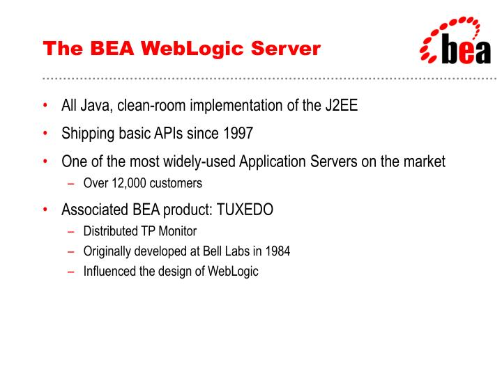 The BEA WebLogic Server