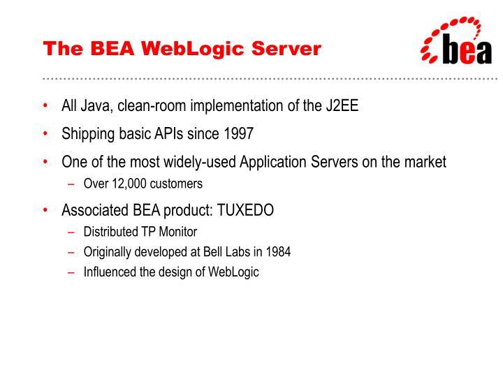 The BEA WebLogic Server